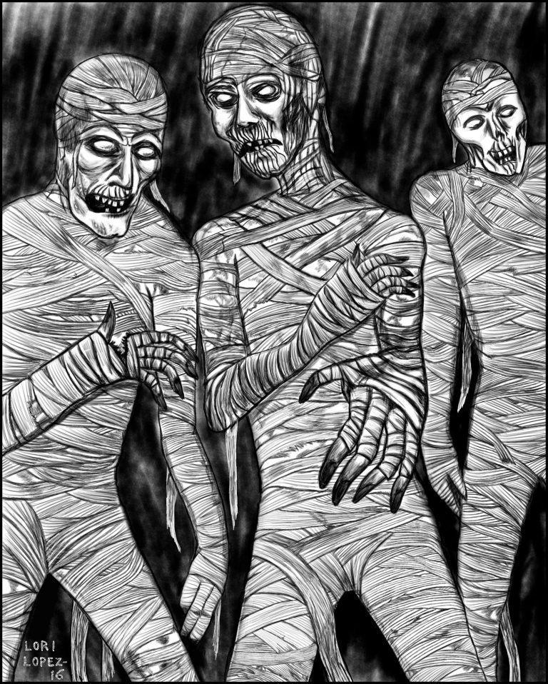 Illustration:  The Mummies