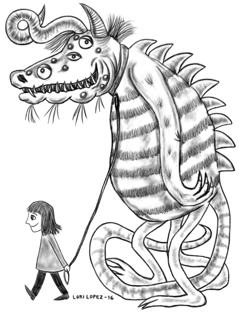 Illustration:  Walking The Monster