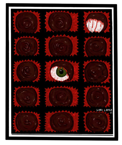 Cover Art:  Chocolate-Covered Eyes