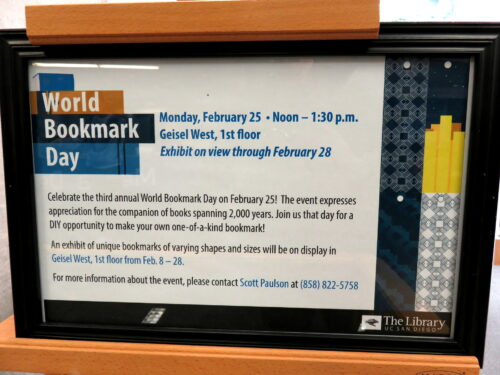 World Bookmark Day 2019