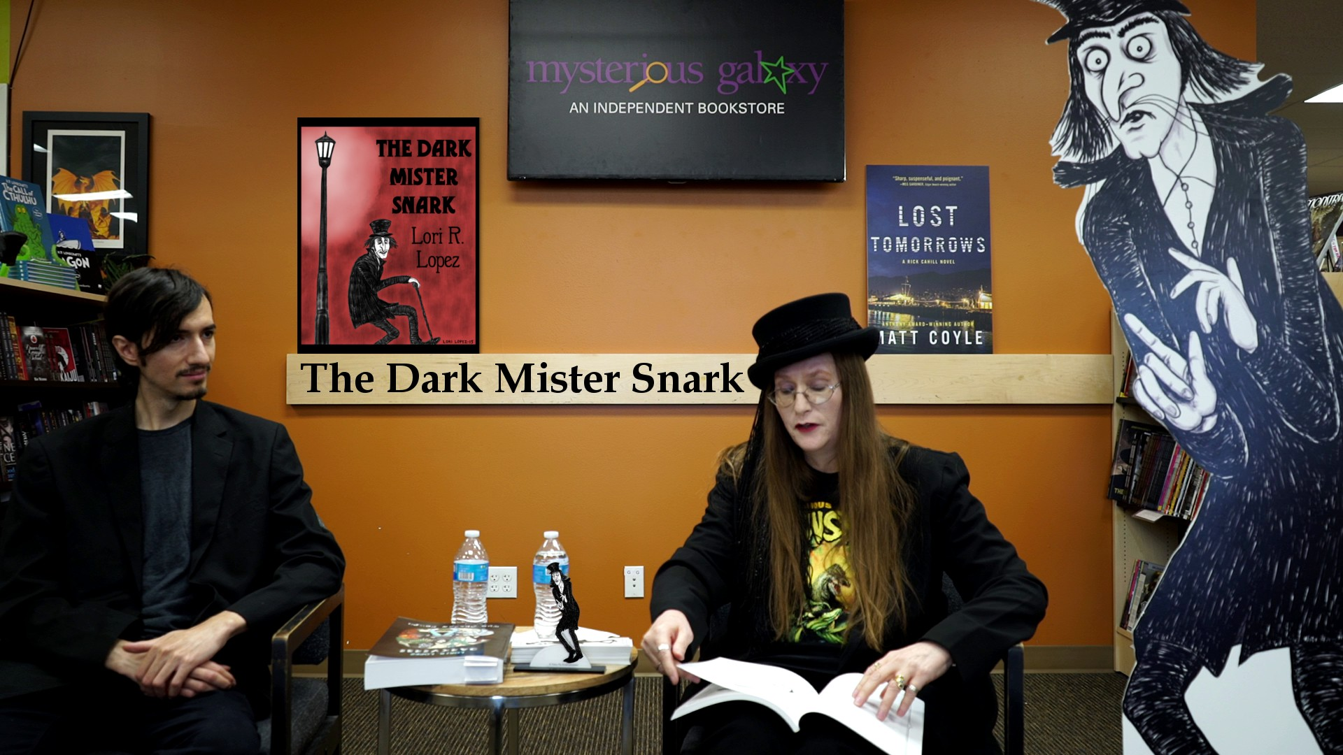 Lori R. Lopez Reading And Presentation At Mysterious Galaxy Bookstore With The Dark Mister Snark