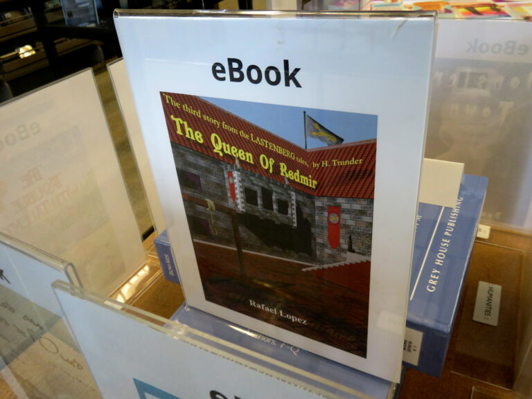 The Queen Of Redmir E-Book by Rafael Lopez On Display at 54th San Diego Local Authors Exhibit