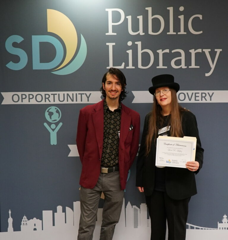 Rafael Lopez and Lori R. Lopez at 54th San Diego Local Authors Exhibit