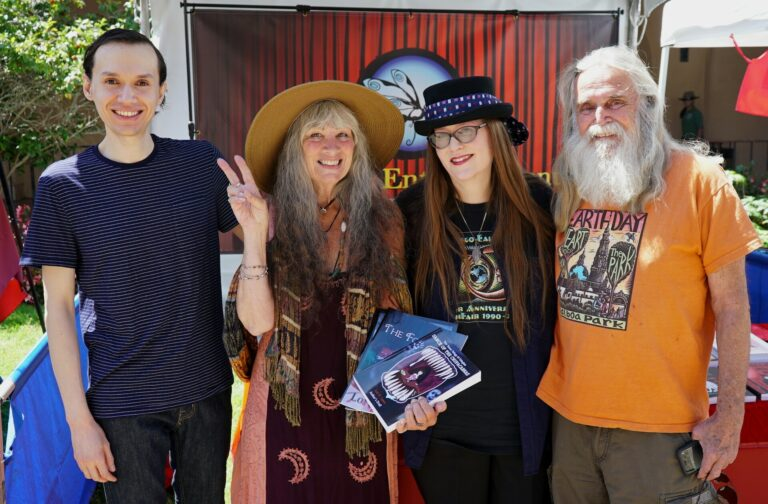 San Diego Earth Fair April 2018 - Noel Lopez, Granny Goodwitch, Lori R. Lopez, And Stan