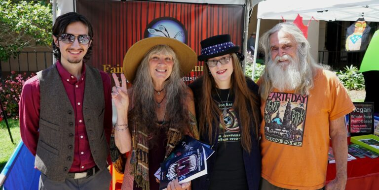 San Diego Earth Fair April 2018 - Rafael Lopez, Granny Goodwitch, Lori R. Lopez, And Stan