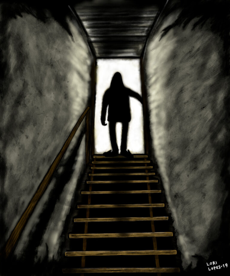 The Dark Down There E-Book Cover Artwork by Artist Lori R. Lopez