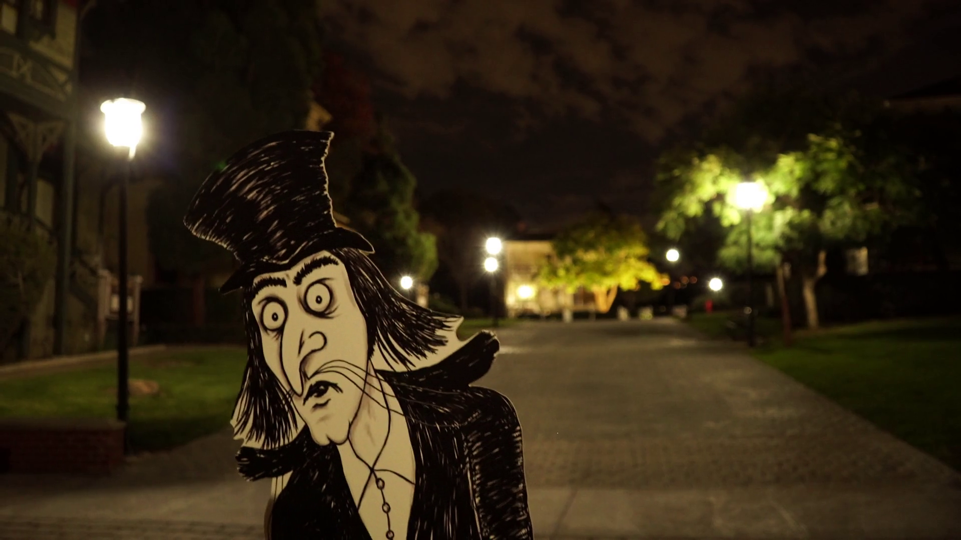 Mister Snark Lurking In A Victorian House Neighborhood